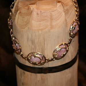 Vintage Pink and Gold Choker